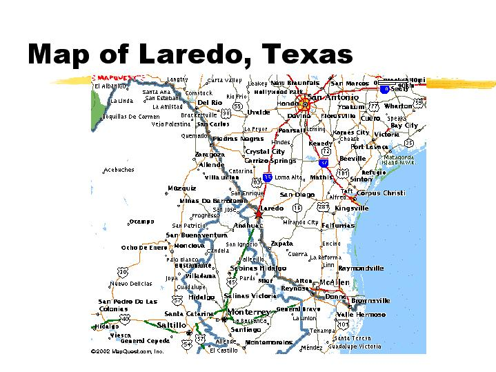 Map Of Laredo Texas
